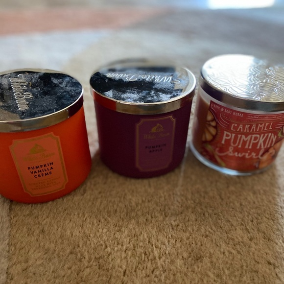 Sold 💣 Three 3 wick candles bath and body works